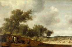 Landscape with Deer Hunters | Salomon van Ruysdael | Oil Painting
