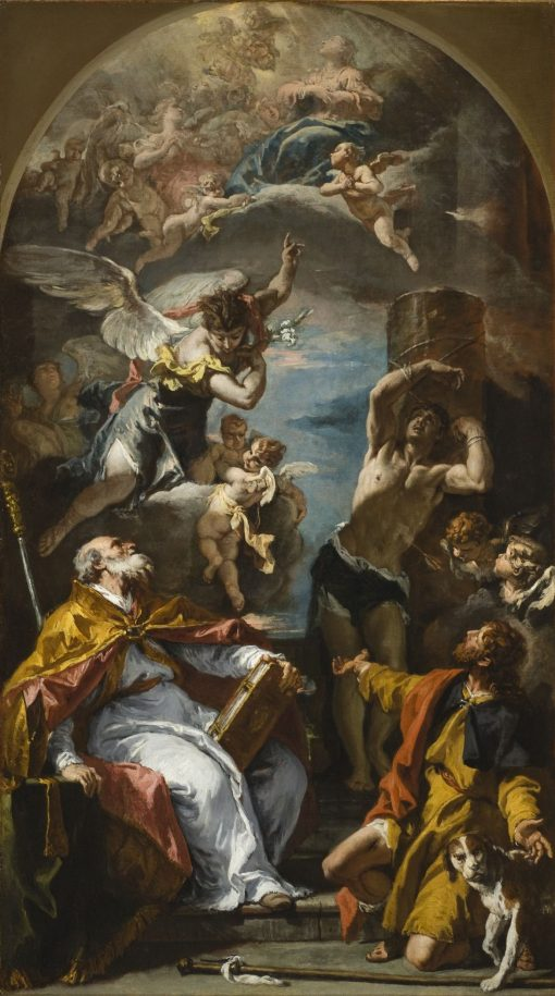 A Glory of the Virgin with the Archangel Gabriel and Saints Eusebius