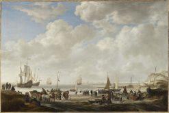 View of a Beach | Simon de Vlieger | Oil Painting
