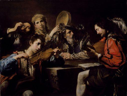 A Musical Party | Valentin de Boulogne | Oil Painting