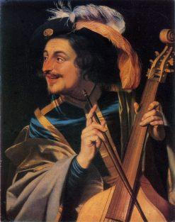 Man with Viola | Gerard van Honthorst | Oil Painting
