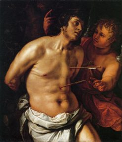 Saint Sebastian with an Angel | Hendrick Goltzius | Oil Painting