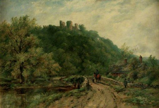 Wooded Landscape with the Ruins of a Castle   Frederick Waters Watts   Oil Painting