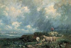Sheep in a Storm | Herbert Hughes Stanton | Oil Painting