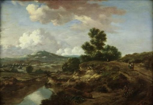 Landscape with a River and a Bridge | Jan Wijnants | Oil Painting