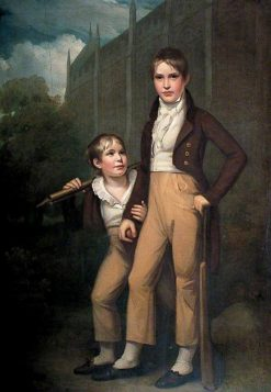 Mawdisty Best and His Brother outside Rochester Cathedral | John Opie | Oil Painting