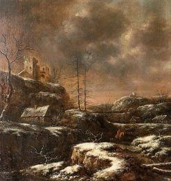 Winter Scene | Klaes Molenaer | Oil Painting