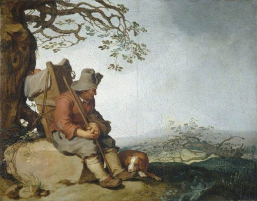 A Man with a Dog in a Landscape | Abraham Bloemaert | Oil Painting