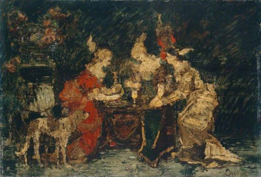 Ladies on a Terrace | Adolphe Joseph Thomas Monticelli | Oil Painting