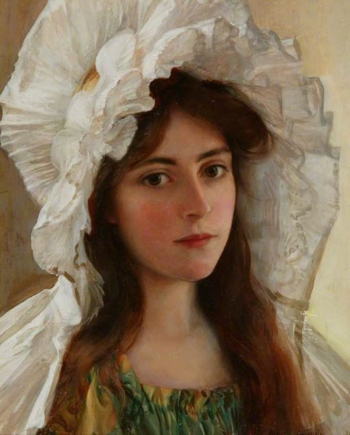 Head of a Girl | Albert Lynch | Oil Painting