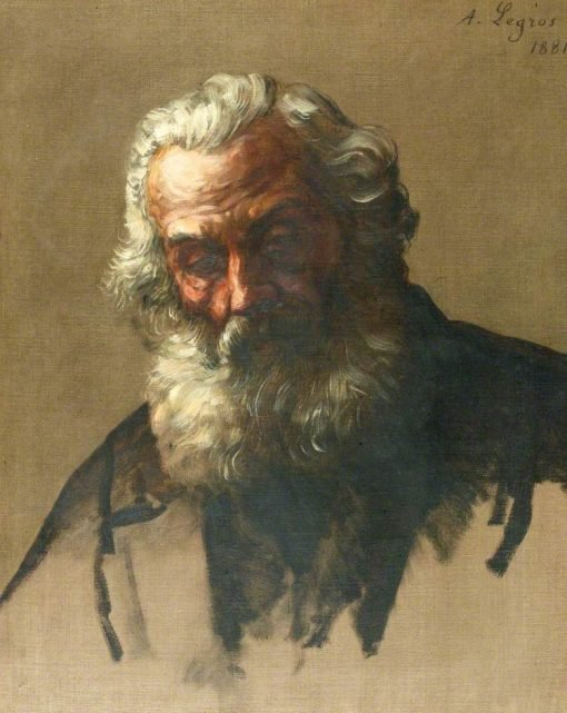 Head of an Old Man | Alphonse Legros | Oil Painting