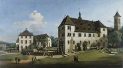 The Fortress of Konigstein: Courtyard with the Magdalenenburg | Bernardo Bellotto | Oil Painting