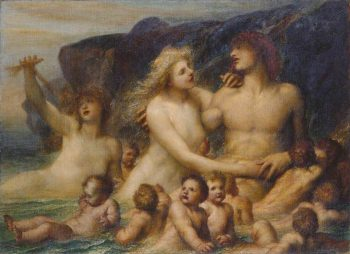 A Greek Idyll   George Frederic Watts   Oil Painting