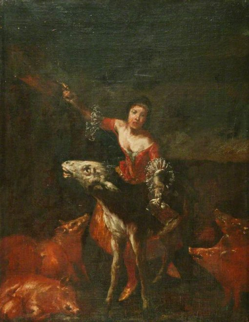 A Singer with a Donkey | Giuseppe Maria Crespi | Oil Painting