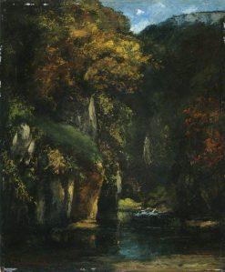 Le ruisseau du puits noir | Gustave Courbet | Oil Painting