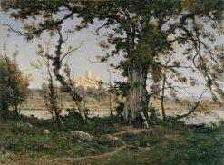 The Castle of Clisson | Henri Joseph Harpignies | Oil Painting
