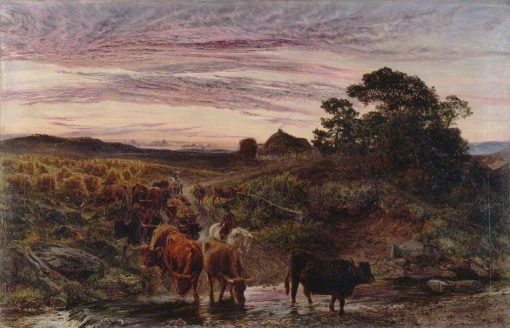 Cattle Fording a Stream | Henry Moore | Oil Painting