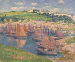 Fishing Boats at Doelan | Henry Moret | Oil Painting