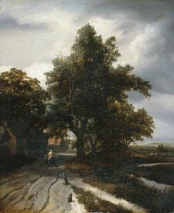 Landscape with a Woman and Child | Jacob van Ruisdael | Oil Painting
