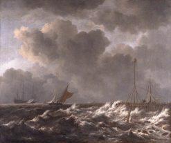A storm off the Dutch Coast | Jacob van Ruisdael | Oil Painting