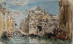 Sketch of Scuola Di S Marco in the Campo SS Giovanni E Paolo