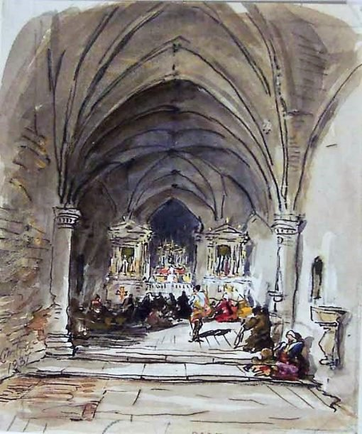Interior of a Portuguese Church | James Holland | Oil Painting