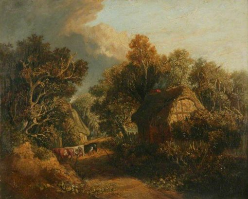 Landscape with a Path Between Cottages | James Stark | Oil Painting
