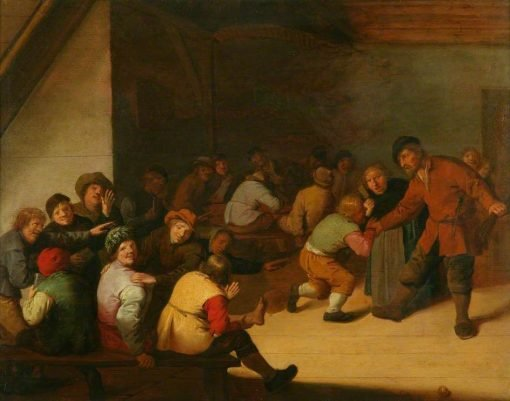 Interior with Peasants and Schoolchildren | Jan Miense Molenaer | Oil Painting