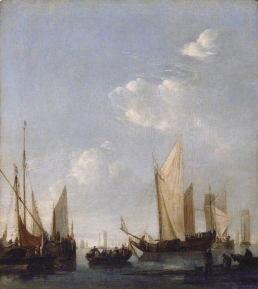 Shipping Anchored in a Calm Sea | Jan van de Cappelle | Oil Painting