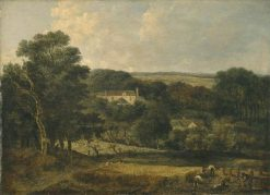 View near Norwich with Harvesters | John Crome | Oil Painting