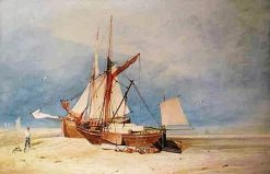 Fishing Boats on the Beach | John Sell Cotman | Oil Painting