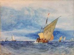 Off Lowestoft : Fresh Breeze | John Sell Cotman | Oil Painting