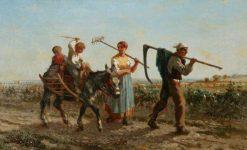 Returning Home   Jules Jacques Veyrassat   Oil Painting