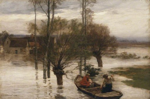 A Flood | LEon Augustin Lhermitte | Oil Painting
