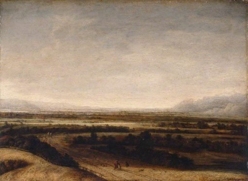 Flat Landscape with a View to Distant Hills | Philips Koninck | Oil Painting