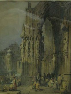 Chartres Cathedral | Samuel Prout | Oil Painting
