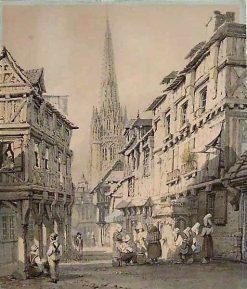 A View of Harfleur | Samuel Prout | Oil Painting