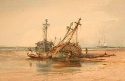Old Hulks | Samuel Prout | Oil Painting