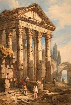 The Temple of Minerva | Samuel Prout | Oil Painting