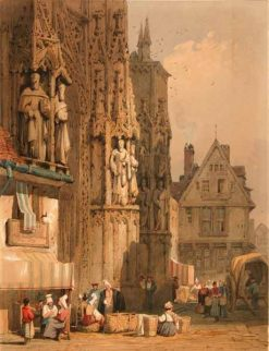 The Cathedral Market | Samuel Prout | Oil Painting