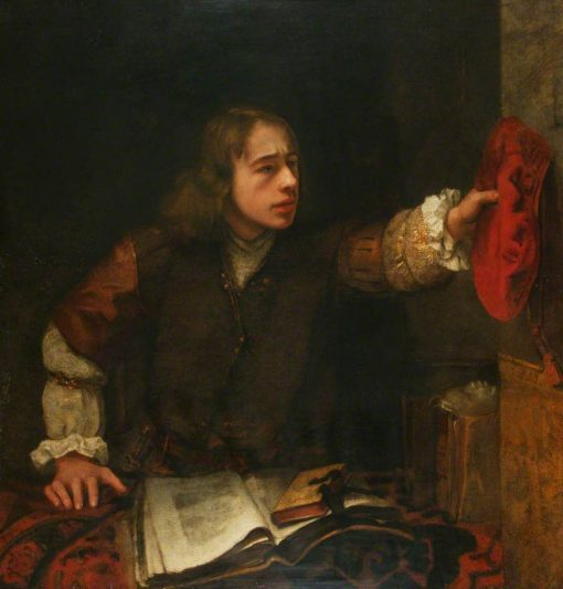 A Young Man Reaching for his Cap | Samuel van Hoogstraeten | Oil Painting
