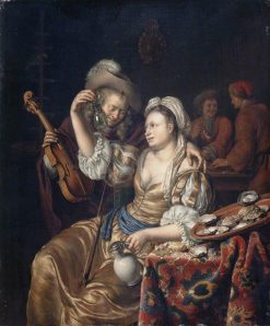 Interior with a Cavalier and a Lady | Willem van Mieris | Oil Painting
