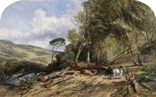 Hauling Timber | William James Muller | Oil Painting
