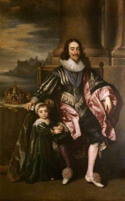 Charles I (1600-1649) and Prince Charles (1630-1685) | Anthony van Dyck | Oil Painting