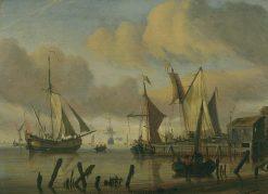 Ships near the Seashore | Abraham Jansz. Storck | Oil Painting