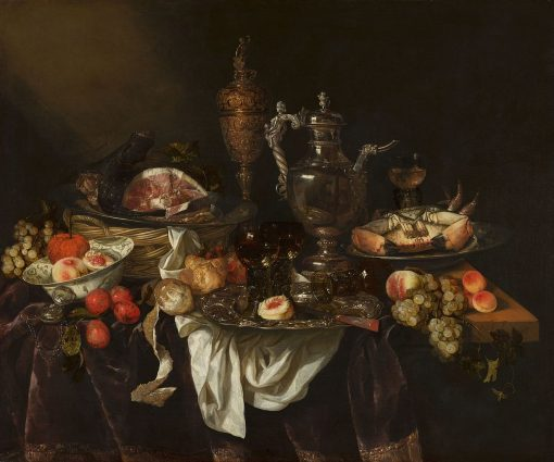 Banquet Still Life with a Self-Portrait in the Silver Jug | Abraham van Beyeren | Oil Painting