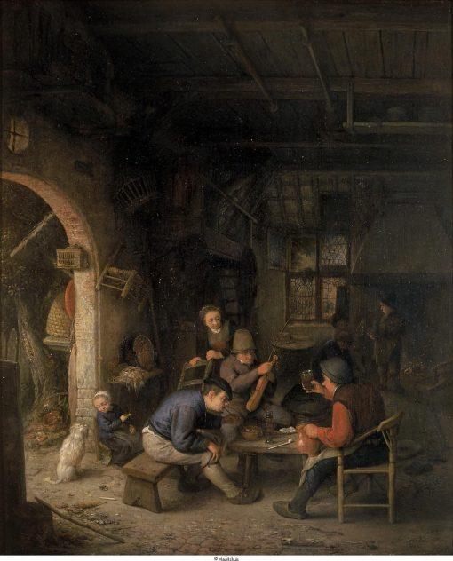 Peasants in an Interior   Adriaen van Ostade   Oil Painting