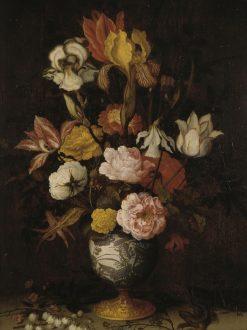 Flowers in a Wan-Li Vase | Balthasar van der Ast | Oil Painting