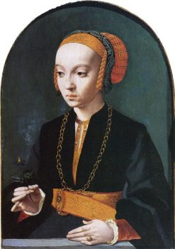 Portrait of a Young Woman(also known as Portrait of Elisabeth Bellinghausen) | Bartholomaeus Bruyn the Elder | Oil Painting