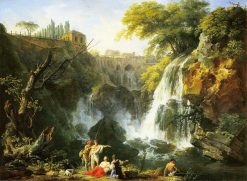 The Waterfalls of Tivoli with the Villa of Meacenas | Claude Joseph Vernet | Oil Painting